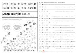 times tables the fun way online 5 times table worksheet activities by carolynrouse teaching
