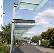 Glass Awning Design Hanging Canopy System Deamor