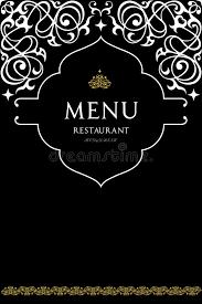 menu design for restaurant stock vector image 69001395