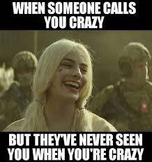 You Crazy Meme - when someone calls you crazy funny pinterest harley quinn