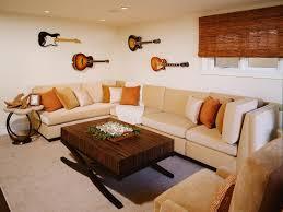 contemporary basement living area sarah barnard hgtv