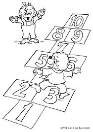 berenstain bears hopscotch colouring pages