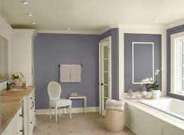 calming lavender paint colors for bathroom with white trim and
