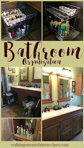 pull out baskets for bathroom cabinets how to install easy bathroom organization bathroom vanity