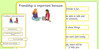 ks3 why is friendship important worksheet sen support