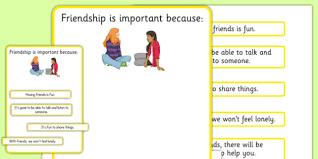 ks3 why is friendship important worksheet sen support