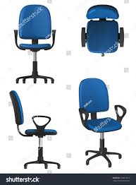 Upholstery And General Twisting Office Chair On Wheels Blue Stock Vector 676014019