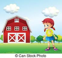 A Cartoon Barn Vector Clip Art Of Cartoon Little Kids A Study In The Vector