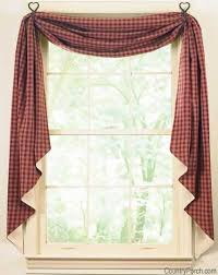 Lined Swag Curtains The Country Porch Such A Great Website For Primitive Home Decor
