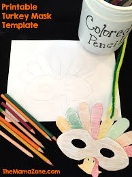 free printable turkey mask template the mama zone