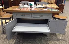 amish roseburg island with two drawers and two doors solid cherry wood kitchen island