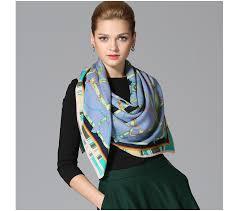 fashion 100 twill wool scarf shawl floral large square 45