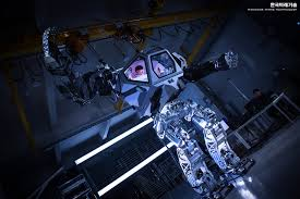 the first cyber trooper giant manned robot method 2 walks like a