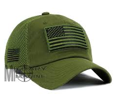 Usa Flag Hats Usa Flag Hat Olive Green Patch Micro Mesh Tactical Operator