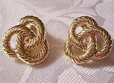 monet earrings monet dome hoops clip on earrings gold tone vintage edge small