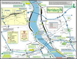 Pennsylvania Railroad Map by Harrisburg Pa Railfan Guide