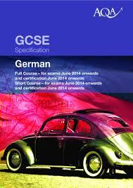 Esszimmer T Ingen Speisekarte Aqa Gcse German Specification 2013