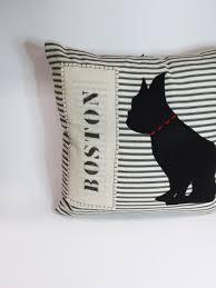 boston terrier pillow decorative boston terrier felt silhouette