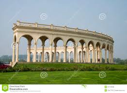 building even the row of arches baroque style editorial photo