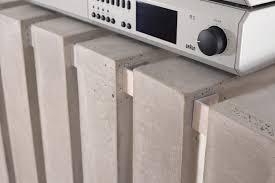 hifi lowboard design thorax high end hifi lowboard from concrete by kompatibel design