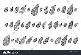 set raindrops style turkish ornaments stock vector 121472935