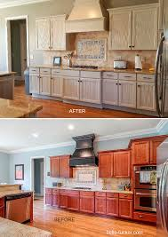 wood countertops painted kitchen cabinets before and after