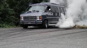 dodge van 85 dodge van burnout youtube