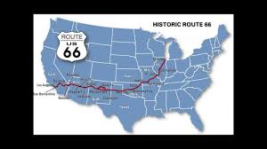 Historic Route 66 Map by Giacomo Gates Route 66 Youtube