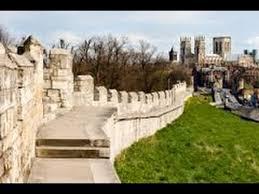 walking on york s medieval city walls york england youtube