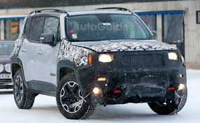 new jeep renegade green jeep renegade trailhawk spied testing its facelift in the arctic