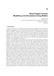 mixed signal circuits modelling and simulations using matlab pdf
