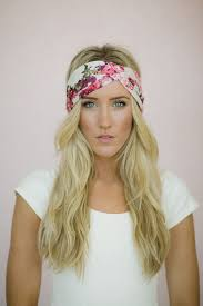 fashion headbands ivory floral turbans headband with pink ivory fuchsia flower