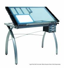 Light Drafting Table Studio Designs Light Pad Support Bars In Silver 10049