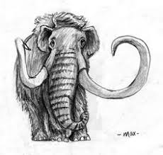 wooly mammoth 11x9 original watercolor illustration room