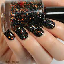 pumpkin carousel 12ml glitter nail polish halloween nail