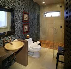 teak shower floor bathroom asian with accent wall asian art bridge