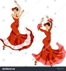 flamenco dancer set stock vector 468784748 shutterstock