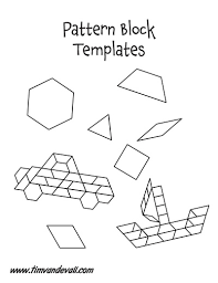 free paper pattern block templates printable pattern block