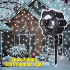 falling snowflake christmas lights led laser light projector snow flurries falling snowflakes landscape