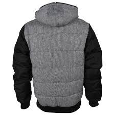 mens kangol penta black grey hooded hoody sweater zip up jacket