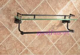 Glass Bathroom Shelf With Towel Bar Wholesale And Retail Wall Mounted Oil Rubbed Bronze Bathroom