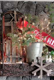 Picnic Decorations Santa U0027s Picnic By The Campfire A Rustic Christmas Mantel Hometalk