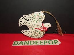 lenox annual ornament 2008 dove bird 4 x 3 5