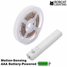 motion activated led light strip motion activated led strip lighting for closet or under cabinet