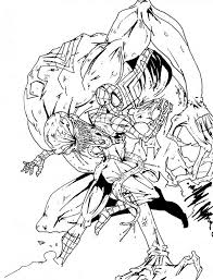 ultimate spiderman coloring pages image information
