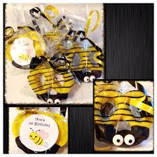 bee party bumble bee chocolate covered pretzels set of 12