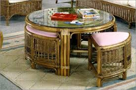 Rattan Coffee Table Classic Rattan Coffee Table W Stools Summers Patio
