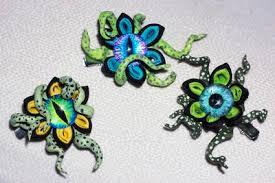 lilly inverse designs custom eyeball tentacles creepy kanzashi