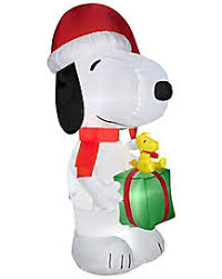 Snoopy Inflatable Christmas Decoration by Christmas Inflatables Inflatable Outdoor Christmas Decorations