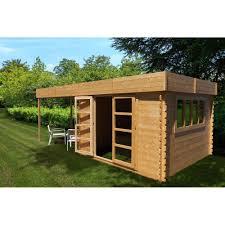 construire son chalet en bois abri de jardin à toit plat 9m pergola 9m en bois massif 28mm